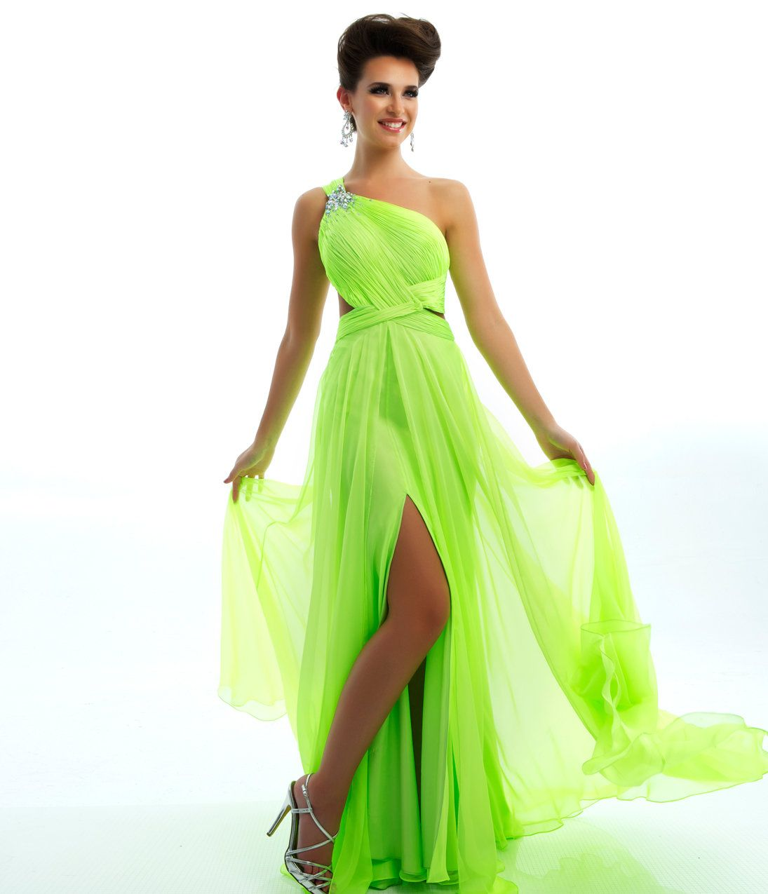 Fluorescent Green Bridesmaid Dresses