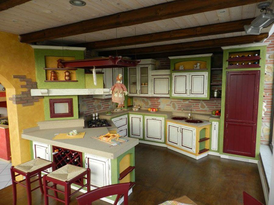 Cucina Muratura Moderna 30 | cucina | Pinterest | Cucine, Cucina e ...