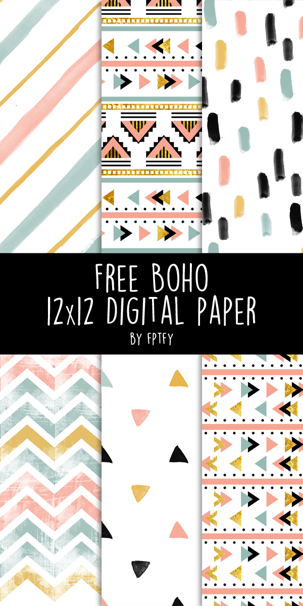 Free Boho Digital Paper Lovely Pretty Diys Crafts Pinterest