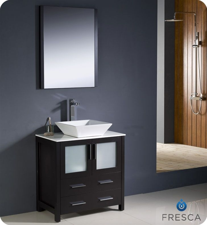 Fresca Torino 30 White Modern Bathroom Sink Modern Bathroom