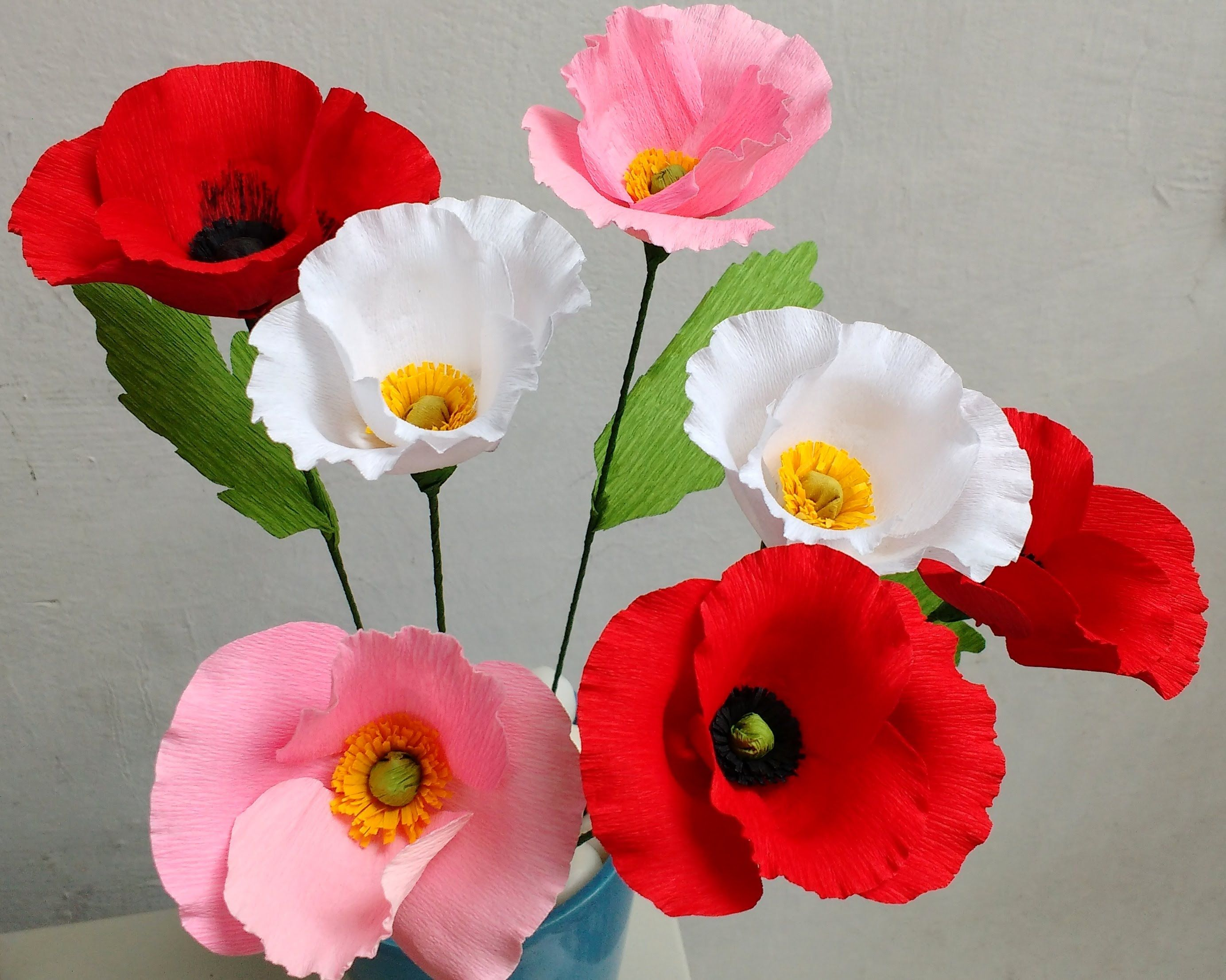 Paper Flower Poppy Flower 80 Youtube Flores De Papel
