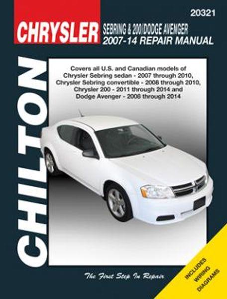 Chrysler Sebring and 200 and Dodge Avenger for 2007-2014 Repair ...