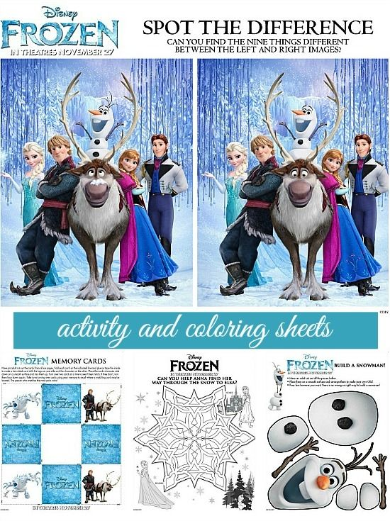 Disney Frozen Free Activity And Coloring Sheets Disney
