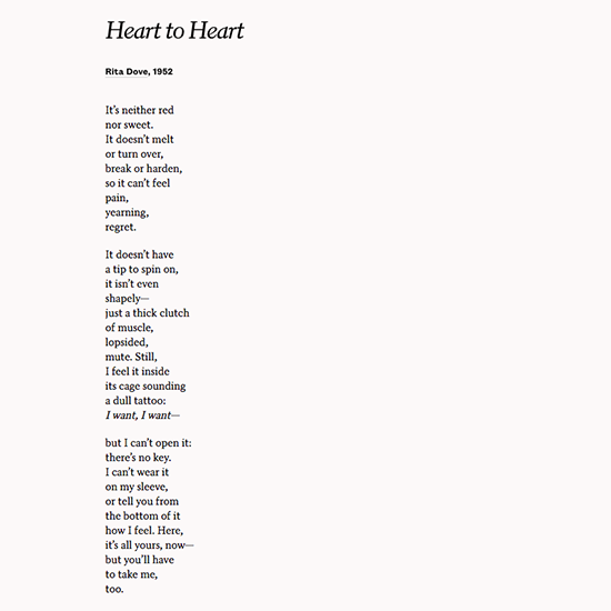 Use Heart To By Rita Dove Celebrate Love On Your Anniversary Or Wedding Poemswedding