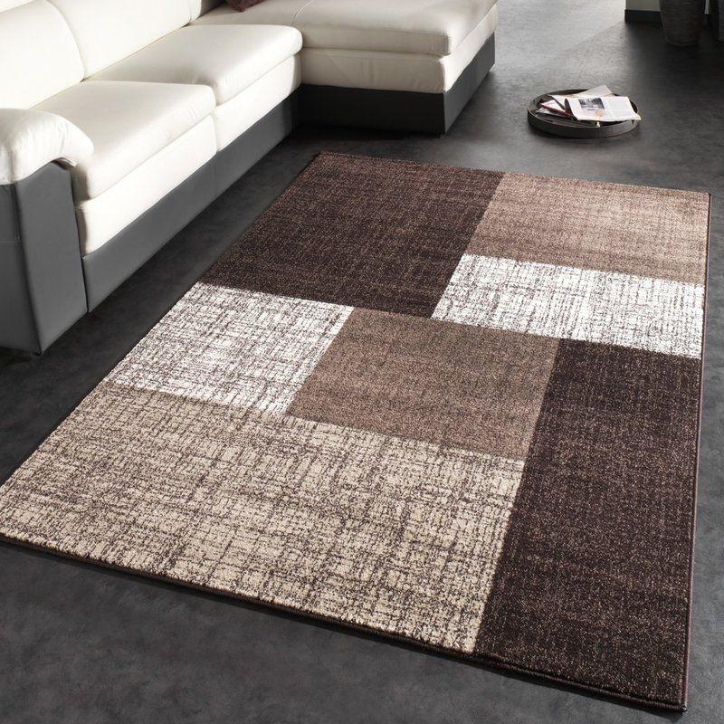Cream Rug Brown Modern Carpet Rugs