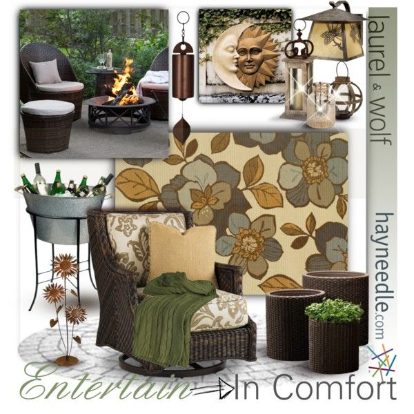 Dream Outdoor Space-Comfy entertaining by fortyandlovingit on Polyvore featuring polyvore, interior, interiors, interior design, home, home decor, interior decorating, Oriental Weavers, Vaxcel Lighting and Tommy Bahama