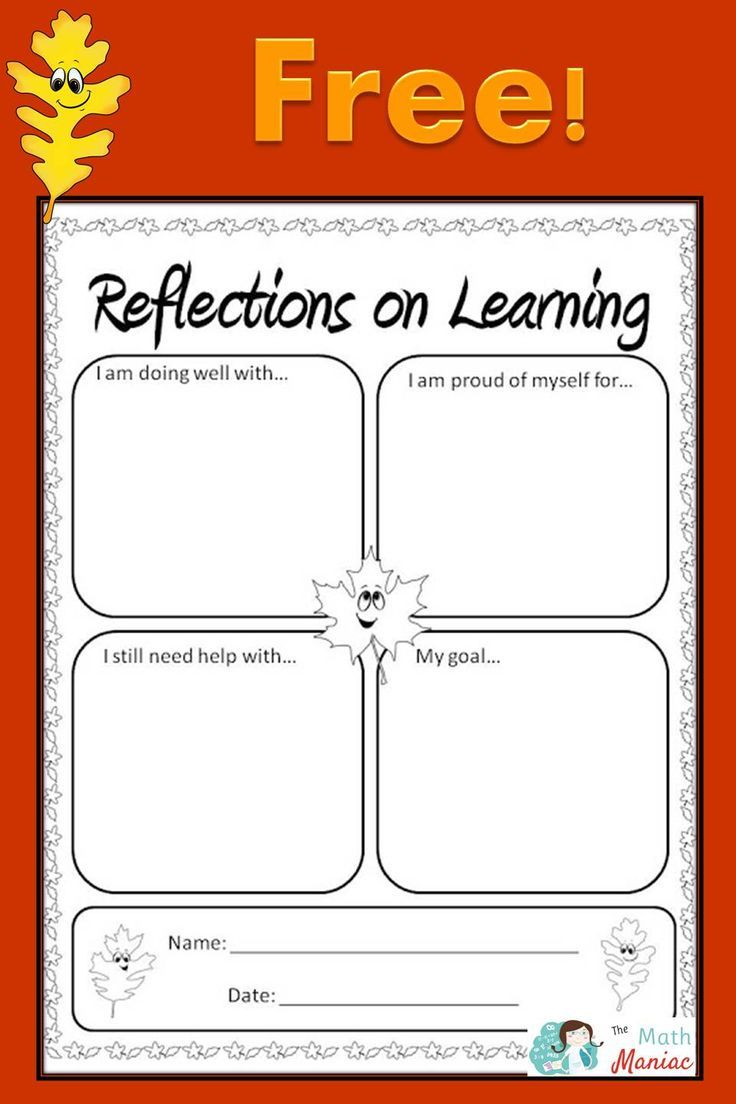 Help Your Students Reflect On Their Learning With This -1030