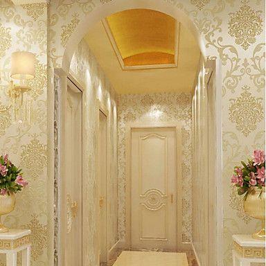 New Rainbow™ Classical Wallpaper Art Deco Gold foil wallpaper Wall ...