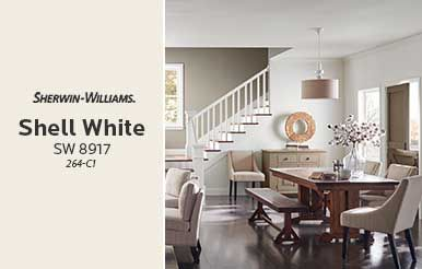 Sherwin Williams Shell White Sw 8917 Paint White Paint