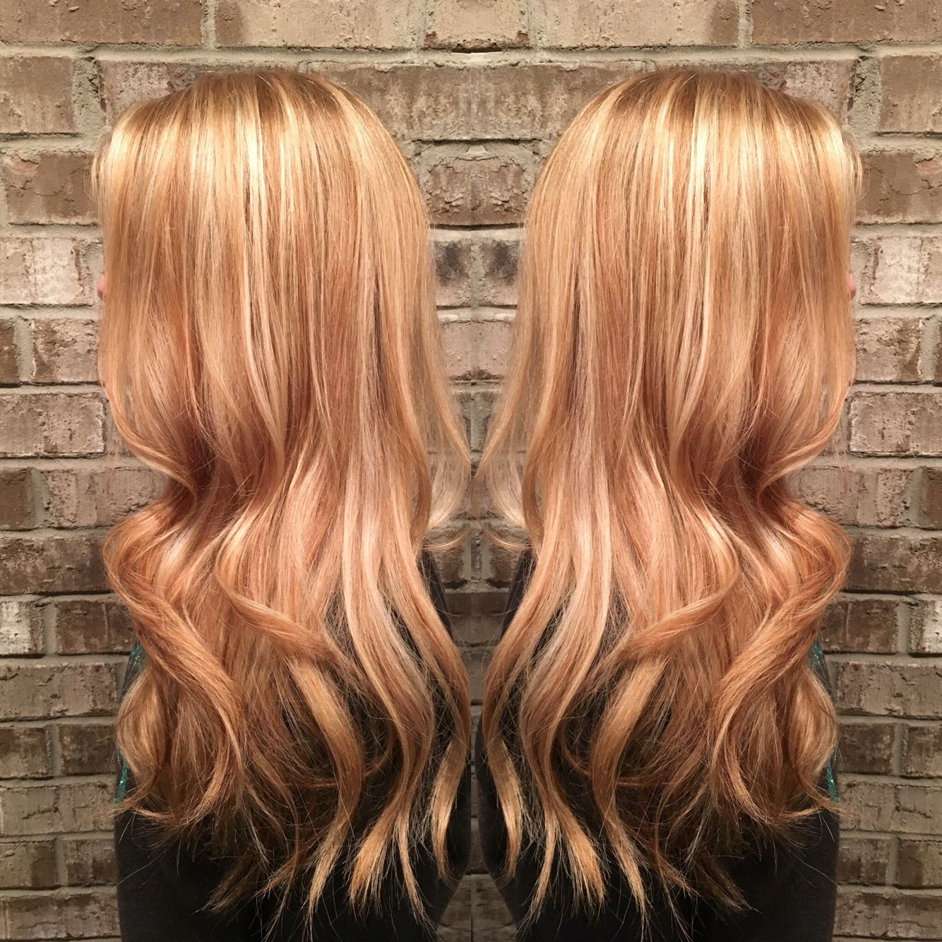 Strawberry Golden Blonde By Misty Callaway At Cheveux Salon In Hendersonville Tn Re Blonde Hair With Highlights Strawberry Blonde Hair Color Strawberry Hair