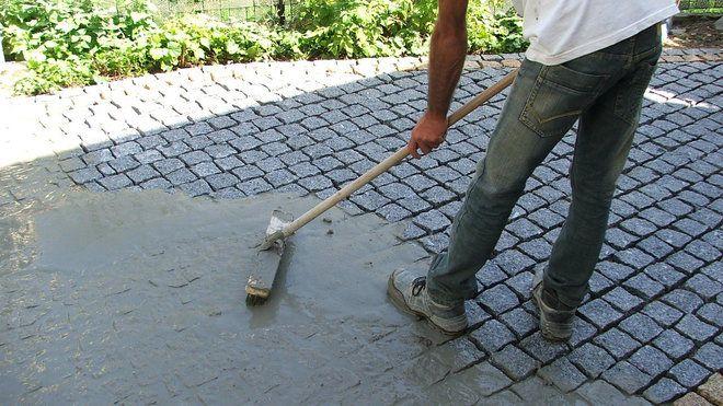 Pose De Pavs En Granit Sur Une Terrasse  Pose De Pav Granit Et Pavs