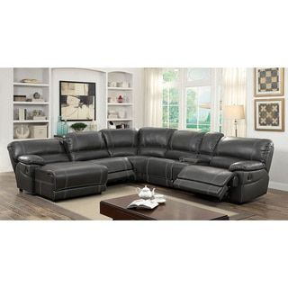 Overstock Com Online Shopping Bedding Furniture Electronics Jewelry Clothing More Reclining Sectional Sectional Sofa With Recliner Grey Sectional Sofa