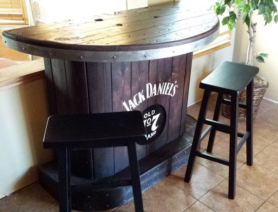 Sold jack daniels home bar custom hand built rustic for Meuble jack daniels