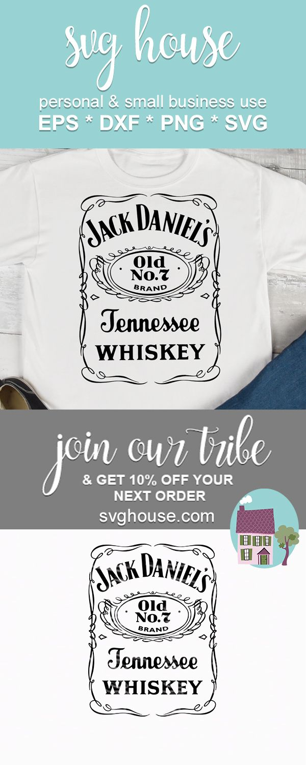 Jack Daniels SVG File Instant Download For Silhouette And