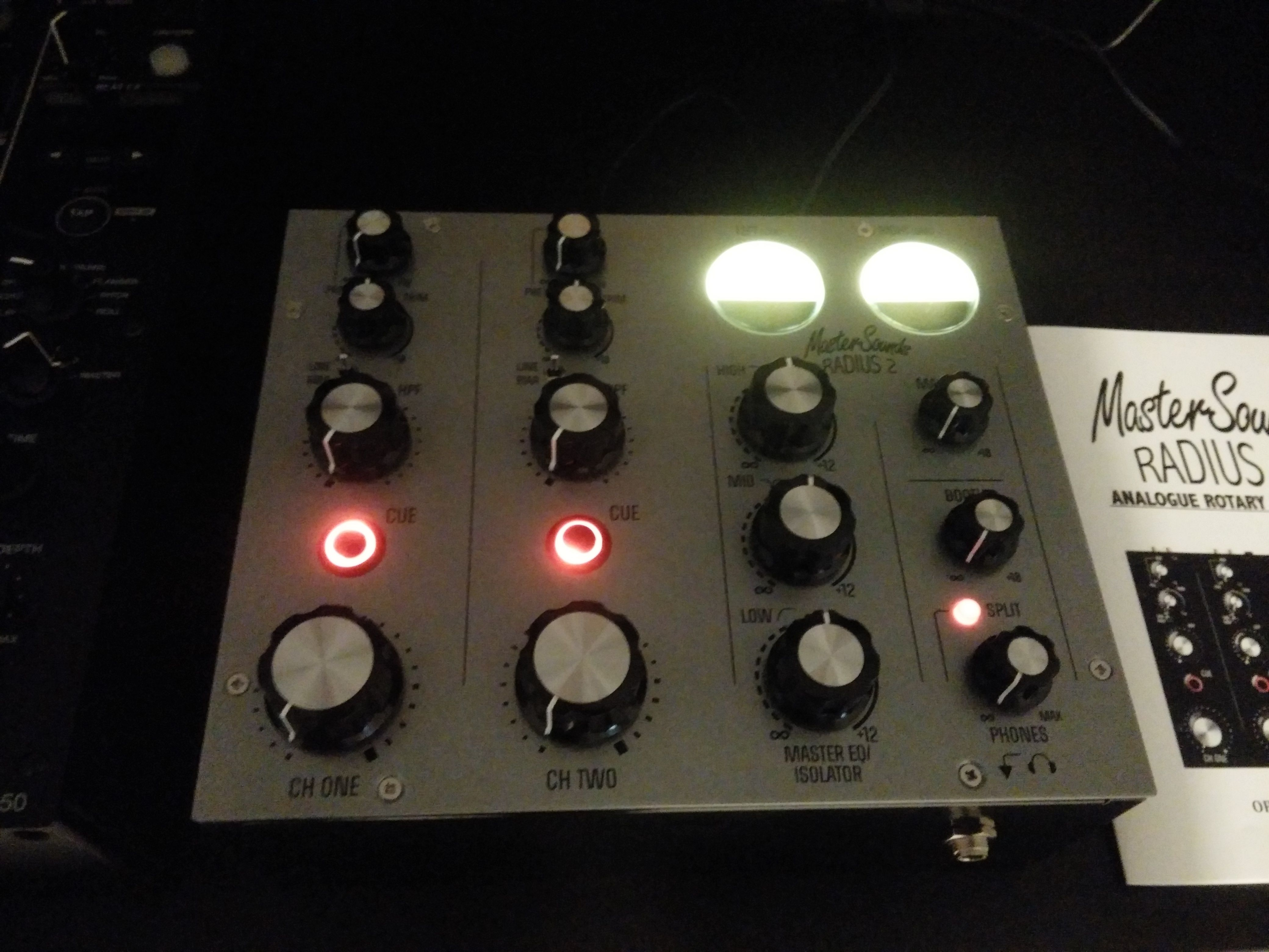 mastersounds radius 2 by union audio analogue rotary dj mixer audio audio mixer music. Black Bedroom Furniture Sets. Home Design Ideas