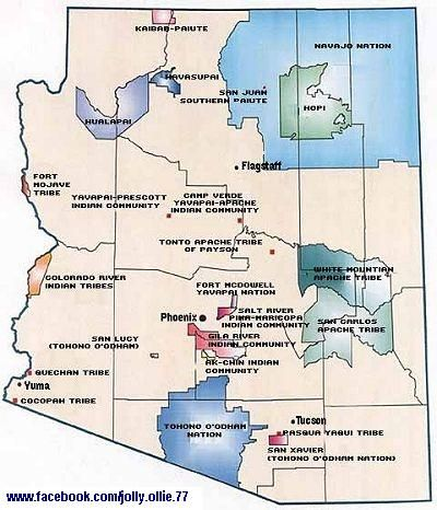 Map Of Arizona Indian Tribes.This Is A Map Of Az Native American Reservations Please Visit My