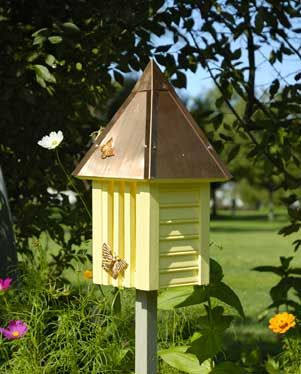 Copper Roofed Butterfly House Offered In Many Colors Butterfly House Butterfly Houses Outdoor Decor