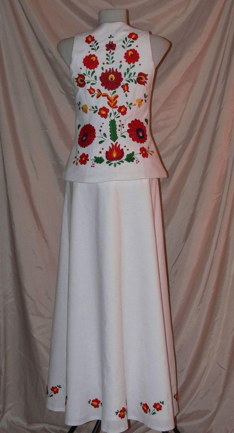 1829b3c3da kalocsai ruha | Régi magyar motívumaink: Matyó hímzéses menyasszonyi ruha