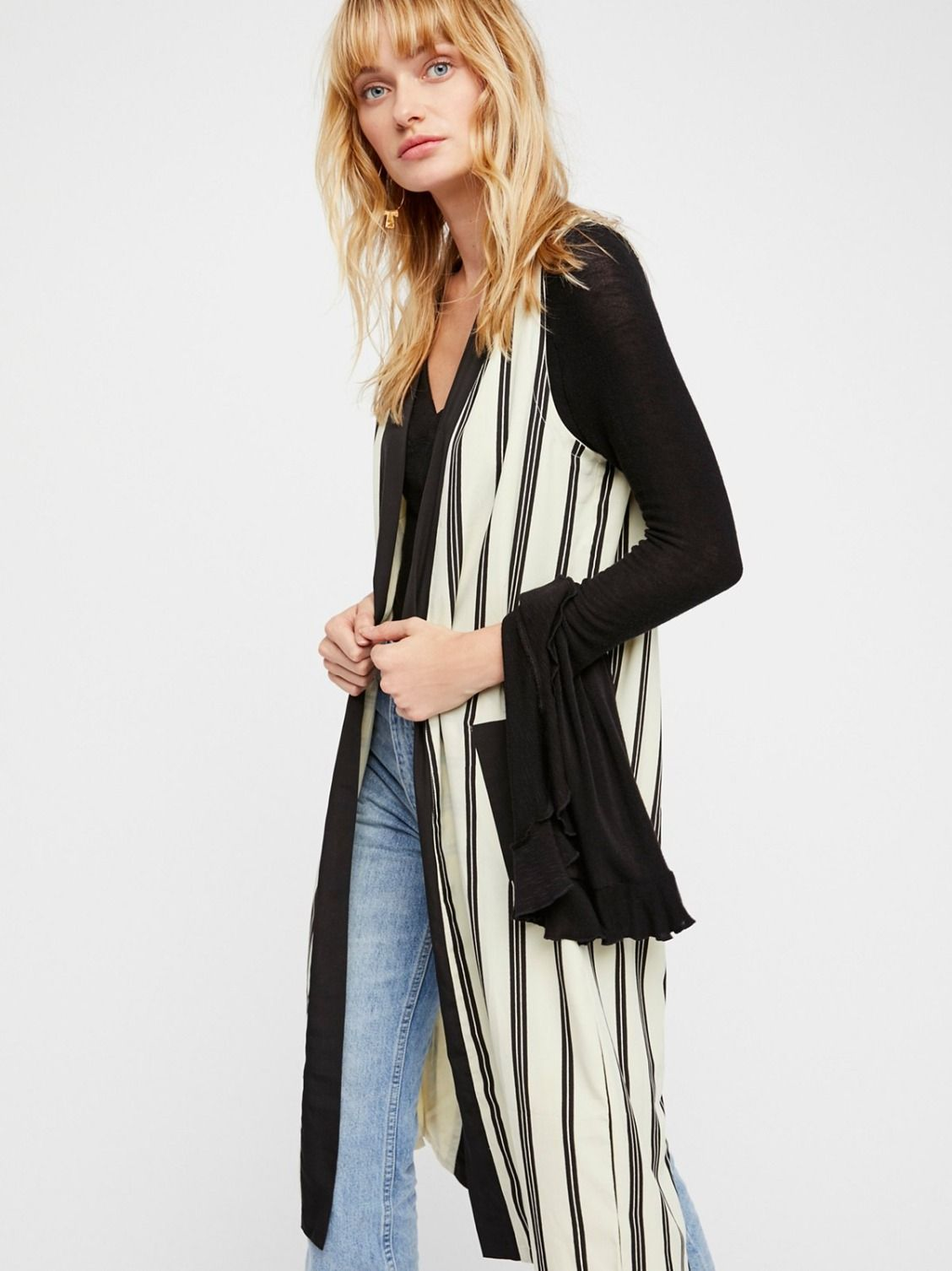 Between The Lines Pinstripe Vest Fashion, Pinstripe