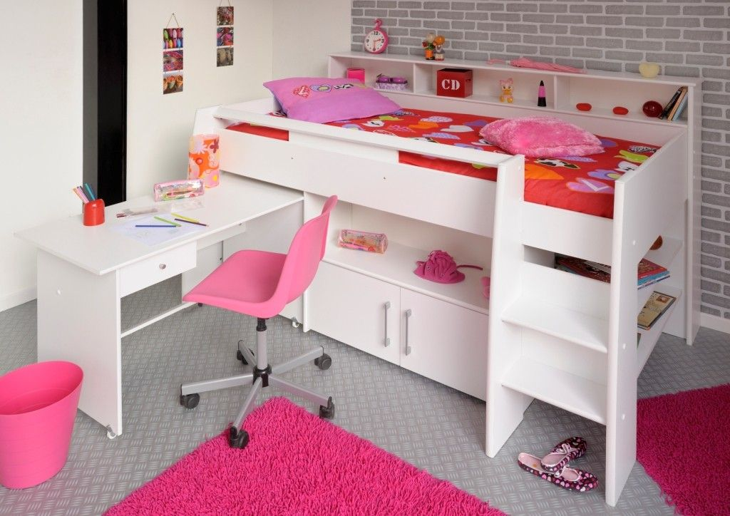 Halfhoogslaper Met Bureau Meisje.Halfhoogslaper Met Bureau Swan In 2019 Room Lily Childrens Cabin