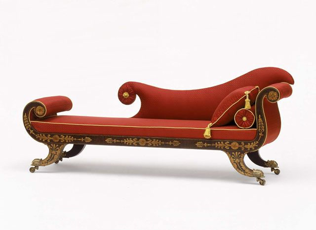 Outdoor furniture design. gorgeous shape    Grecian Couch   attributed to Hugh Finlay   c