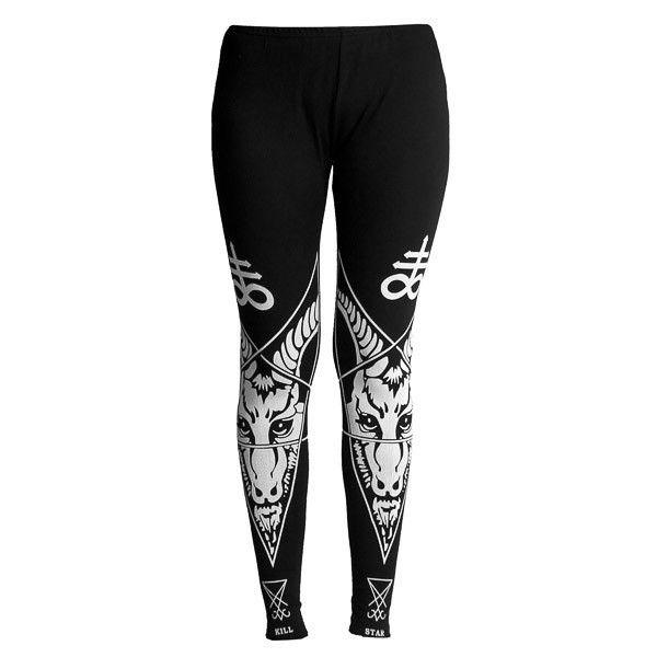 Blood Moon Leggings -- Halloween Leggings -- Printed Gothic Pants -- Made to Order 0QeIs7K