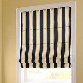 Whole Home 174 Md Stripe Pattern Light Filtering Roman Shade