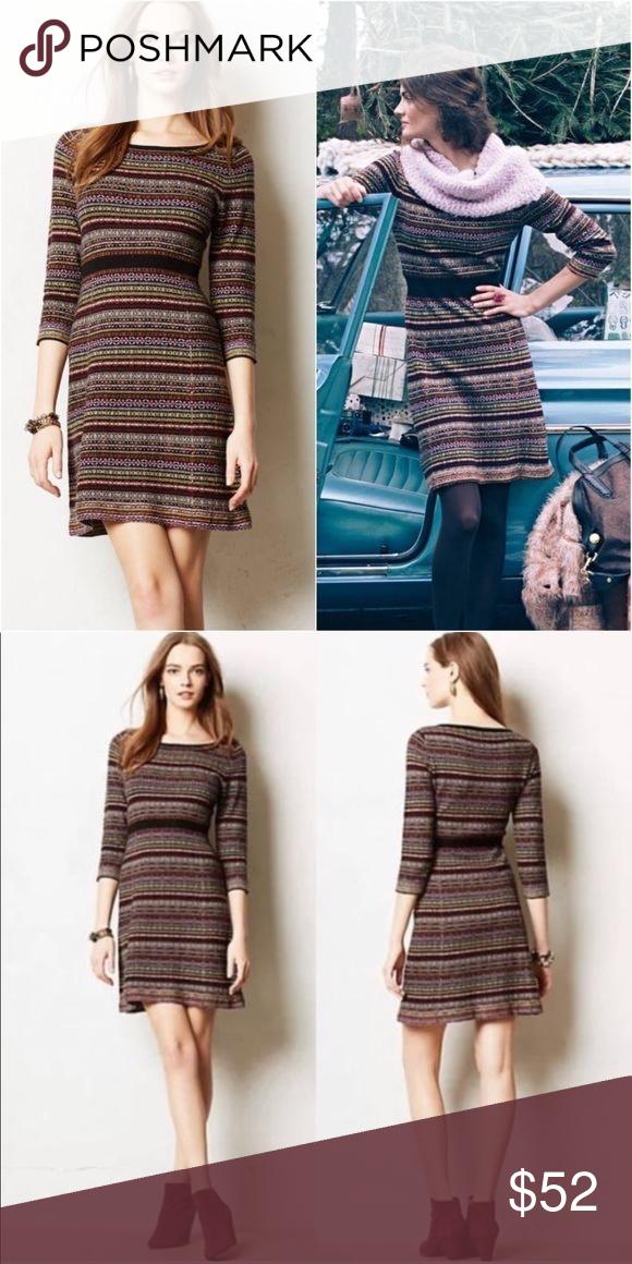 3305ba23baa Anthropologie Sparrow Fair Isle Sweater Dress Brand  Anthropologie - Sparrow  - Clara Fair Isle Sweater