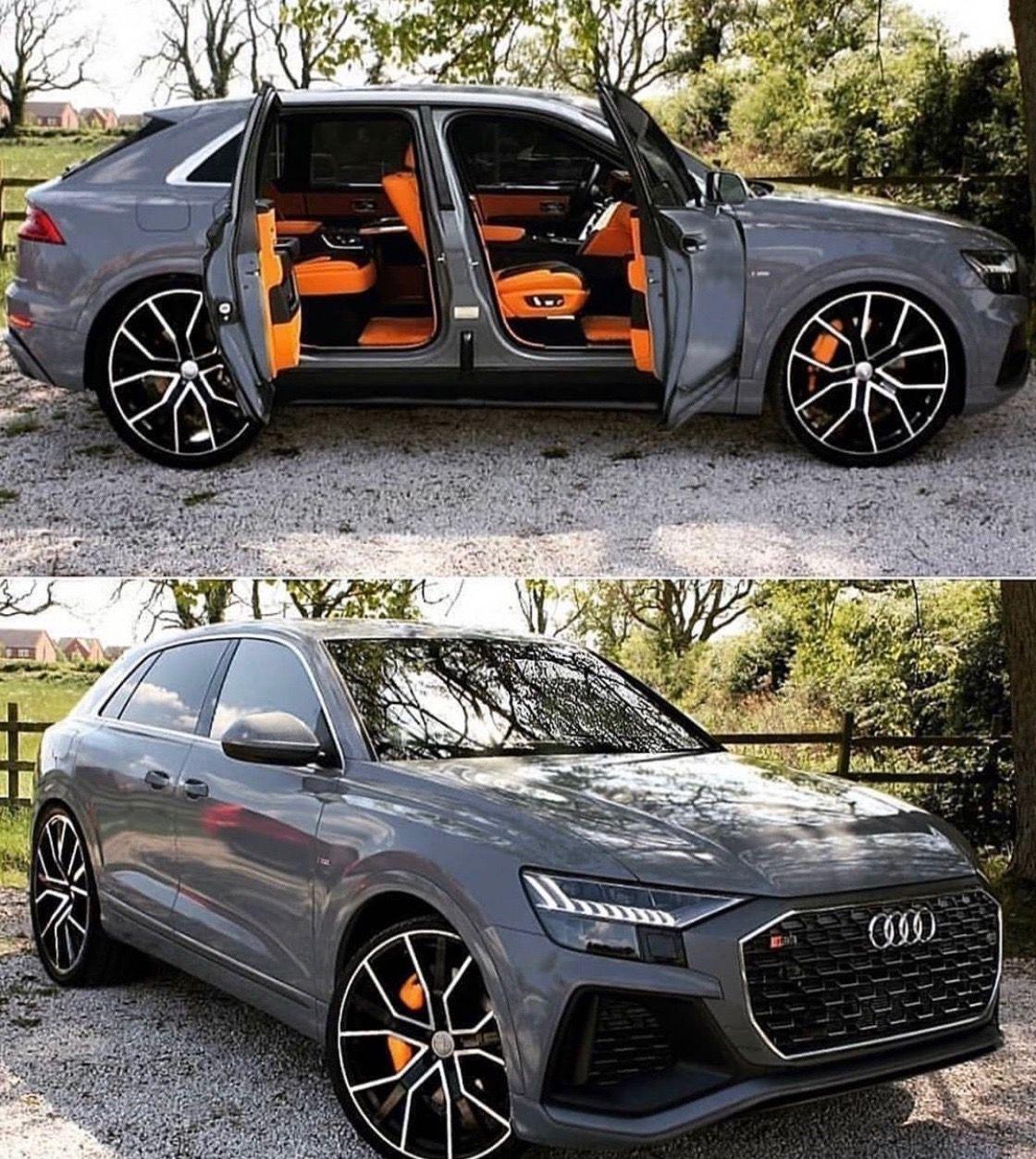 Audi Q8 Grey Orange Clean Different Super Cars Dream Cars Audi