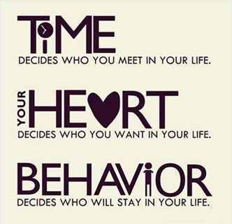 Time Decides Who Yoy Meet In Your Life Heart You Want Behavior Will Stay
