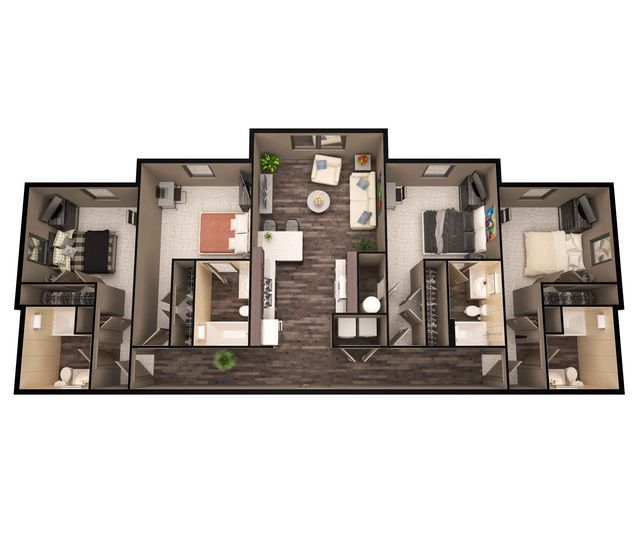 Floor Plans Of The Lofts At Randall Apartments In ...