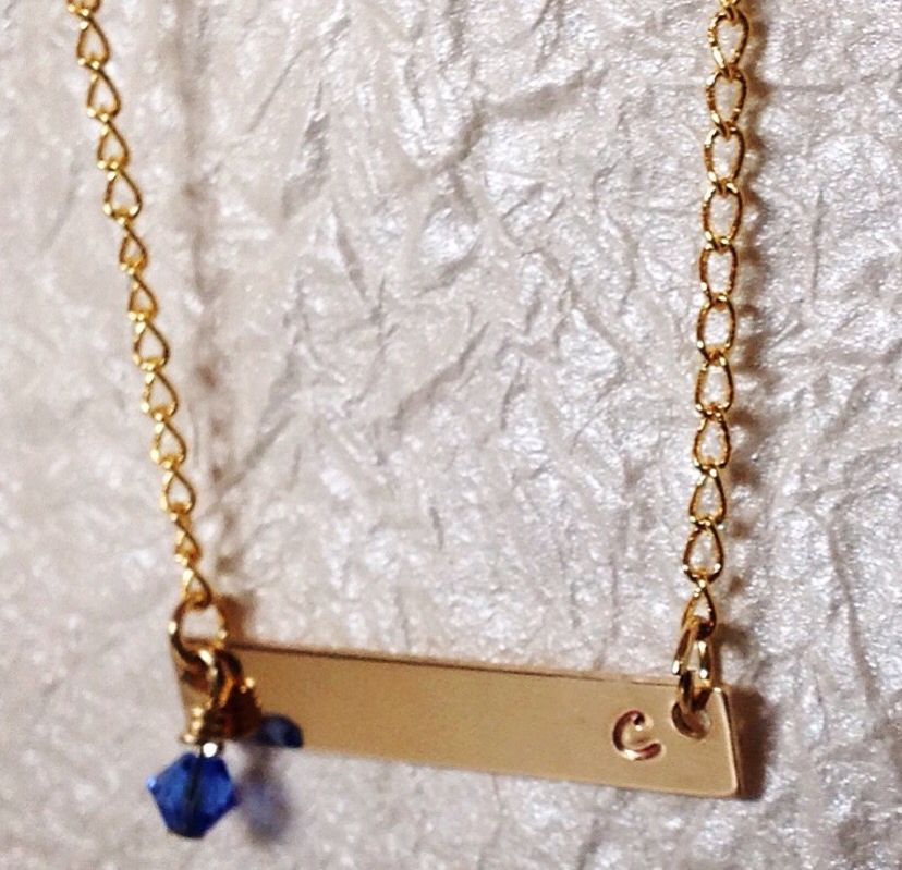 Gold Bar Necklace Custom order your 14ct gold bar pendant $32. Makes a fabulous gift!