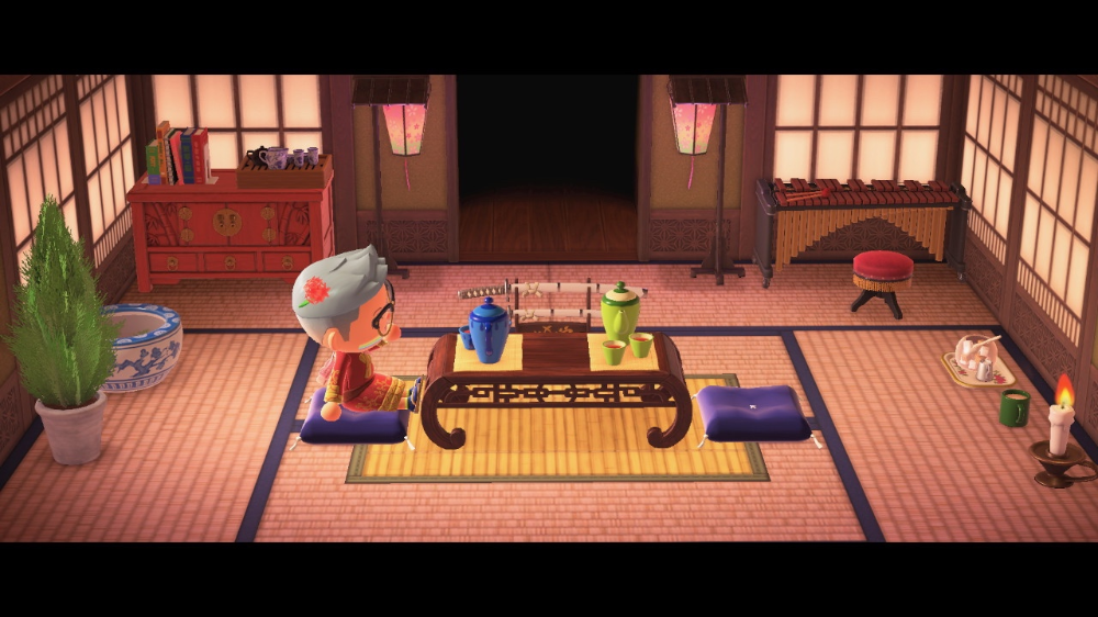 My Living Room As Chashitsu Japanese Tea Room Is Finally Coming Along Animal Crossing Post In 2020 Tea Room Japanese Living Rooms Japanese Animals