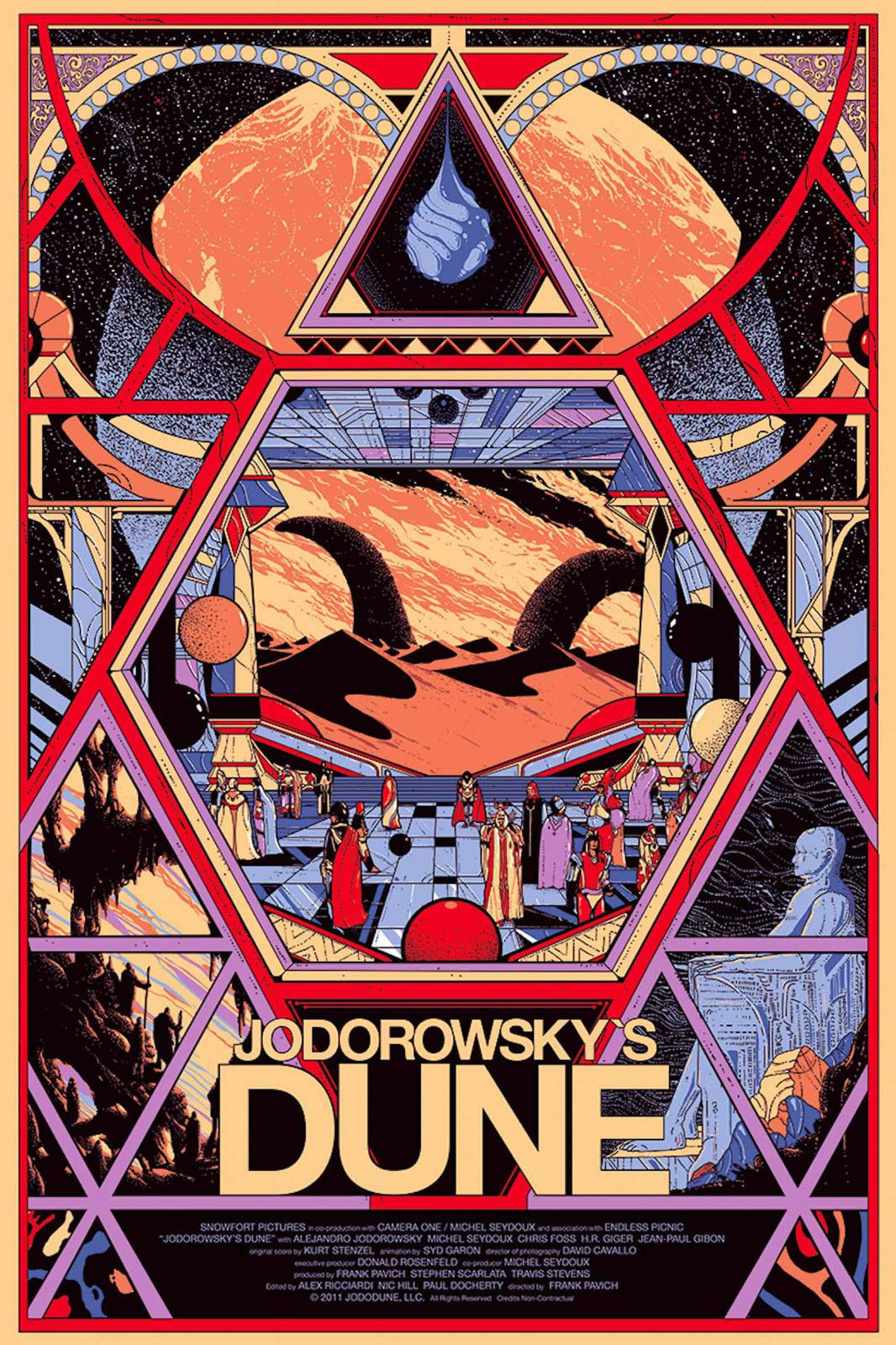 JODOROWSKY/'S DUNE MOVIE POSTER ART PRINT A4 A3 JDM01 BUY 2 GET 1 FREE!