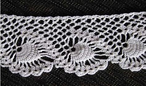 Pineapple Edging Crochet Pinterest Crochet And Patterns