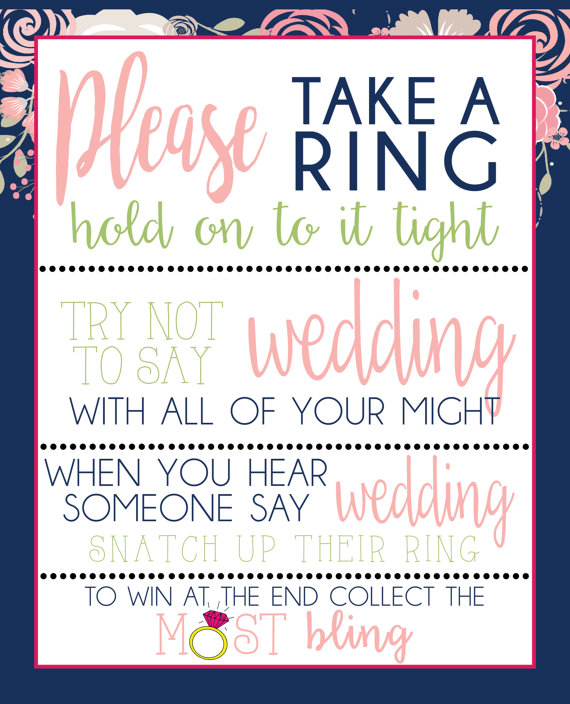 please take a ring game download navy and pink floral bridal shower print your own diy weddi