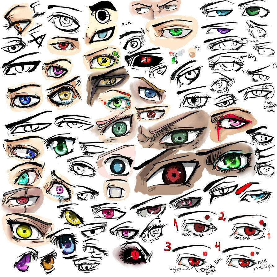 A Lot Of Very Colourful Eyes Augenzeichnungen Augen Zeichnungen Zeichnung