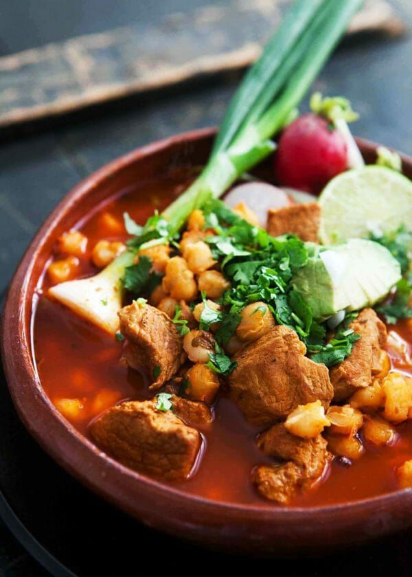 Pozole Rojo (Mexican Pork and Hominy Stew) | Recipe in ...