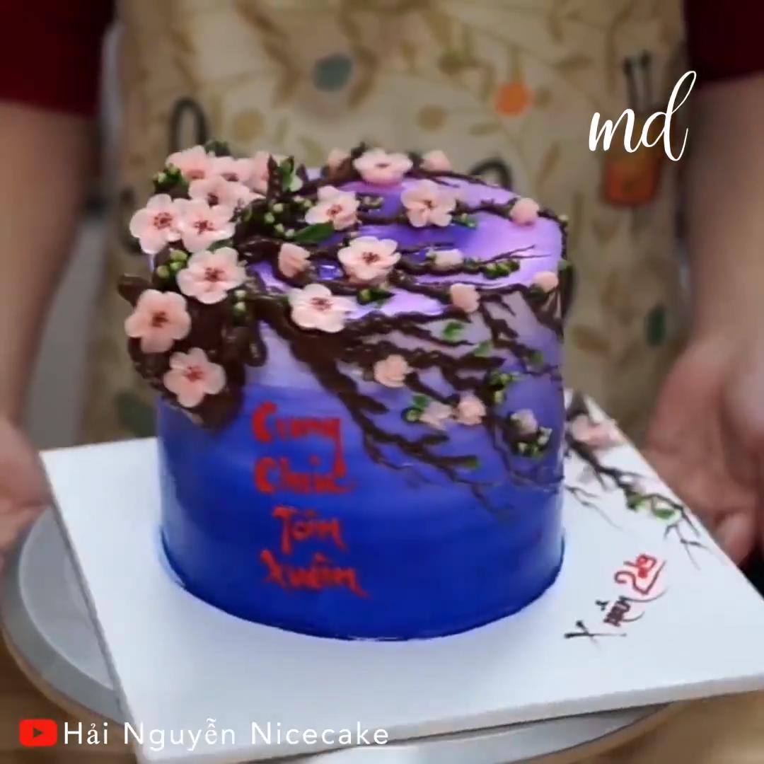 PEACH BLOSSOM CAKE  #cupcakefrostingtips