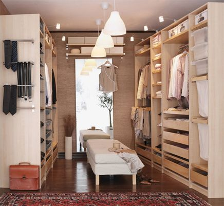 ikea pax dressing - inloopkast zolder slaapkamer | pinterest, Deco ideeën