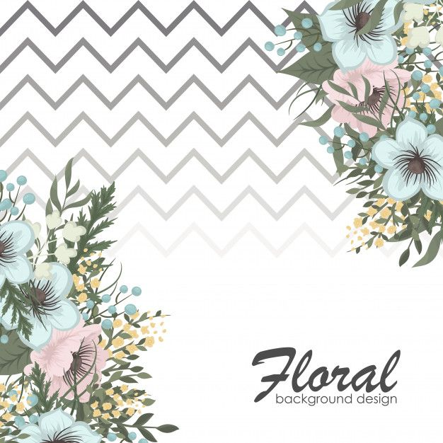 greeting card with flowers  flower border flower doodles