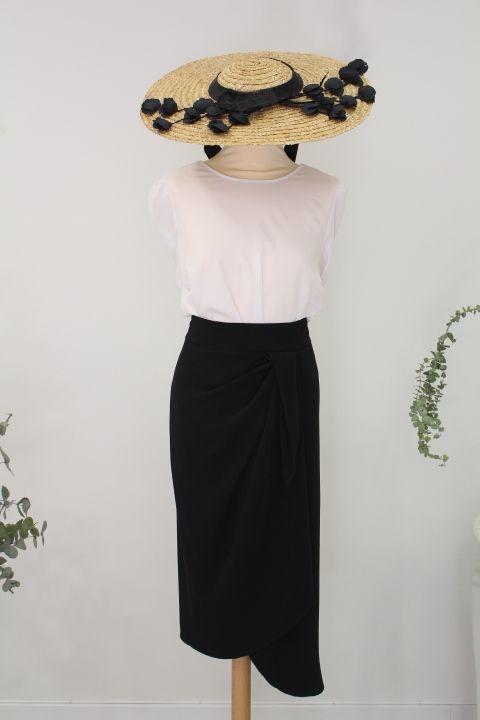 34af8d39fb Conjunto de falda y blusa.  rosa  negro  ropa  invitada  fiesta  boda   elegante  fashion  wedding  party  guest  smart
