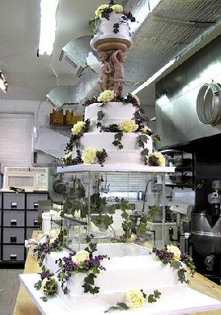 Cake Boss Wedding Cake With Doves