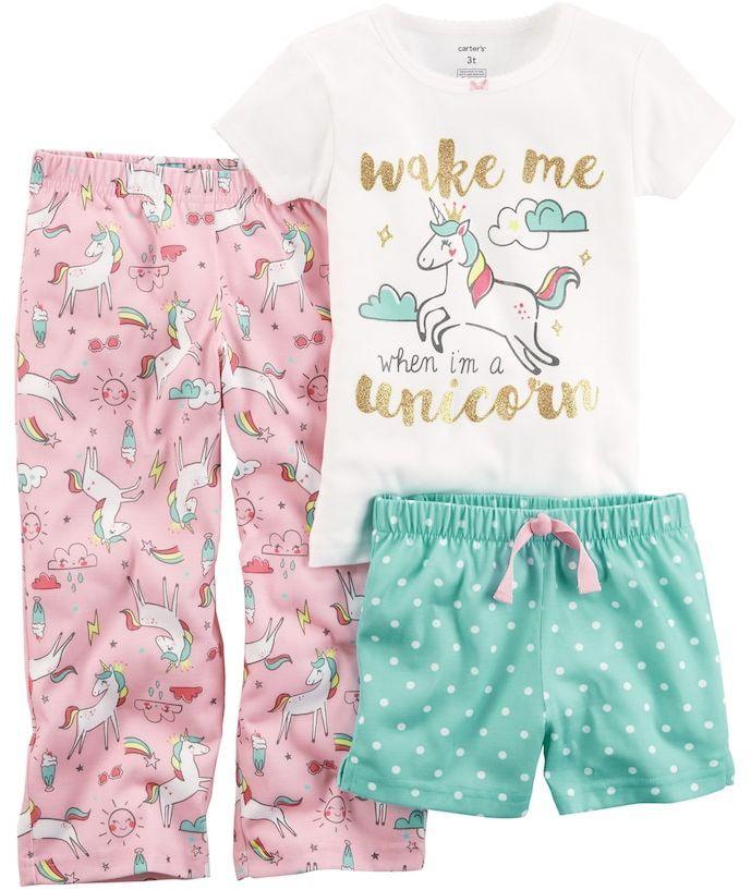 85a3bd31a676 Carter s Toddler Girl Carter s 3-pc. Printed Pajama Set