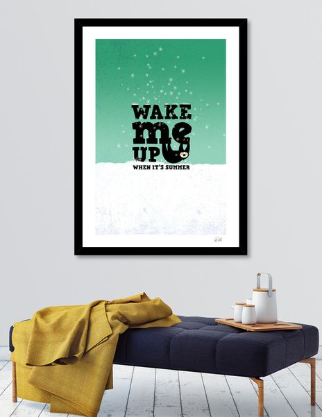 Discover «Wake me up when it's summer», Numbered Edition Fine Art Print by Pia Kolle - From 19€ - Curioos