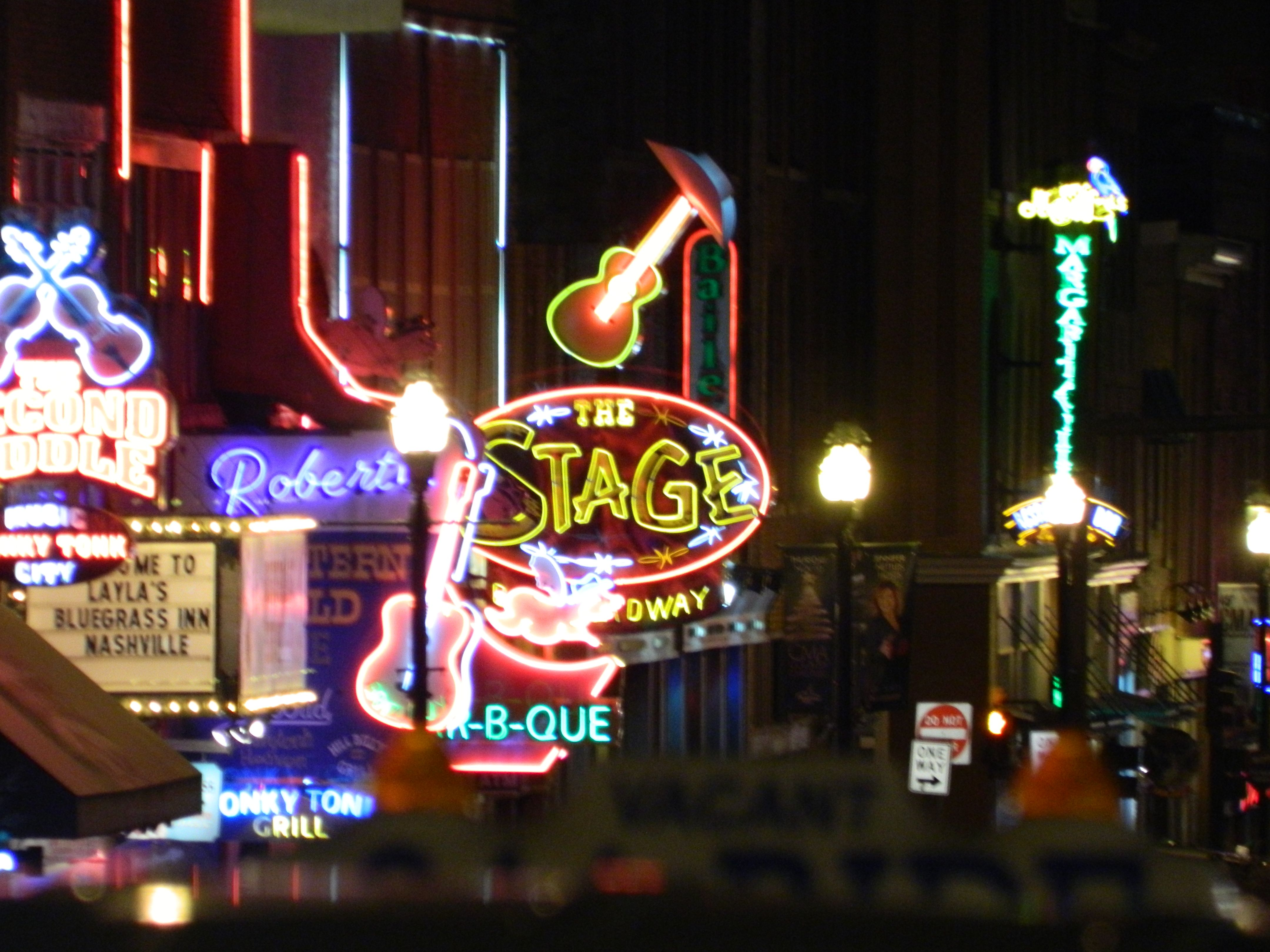 Downtown Nashville, love the hustle & bustle of it