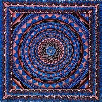 Raspberry Wheel Mandala