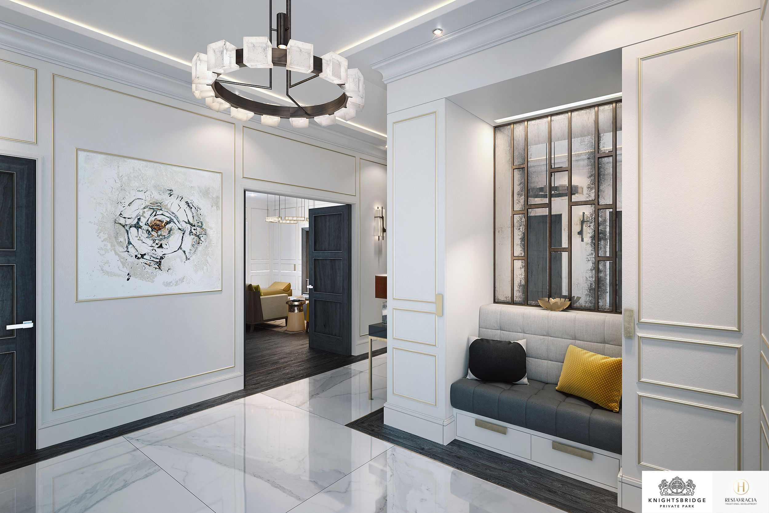 Moscow luxury interior design entrance hallway entrance interiordesign contemporary classic
