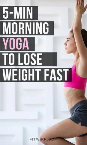 5-min morning yoga to lose weight fast and build strength. This quick and rejuvenating yoga exercise is for weight loss and toning up everywhere. It uses your core, glutes and everywhere else to engage, tighten, and improve your strength. Do this yoga routine for weight loss in the morning. #yoga #yogaroutine #yogaforweightloss #weightlossyoga #morningyoga #yogafitness #yogasequence #HowToLoseBellyFatQuickly