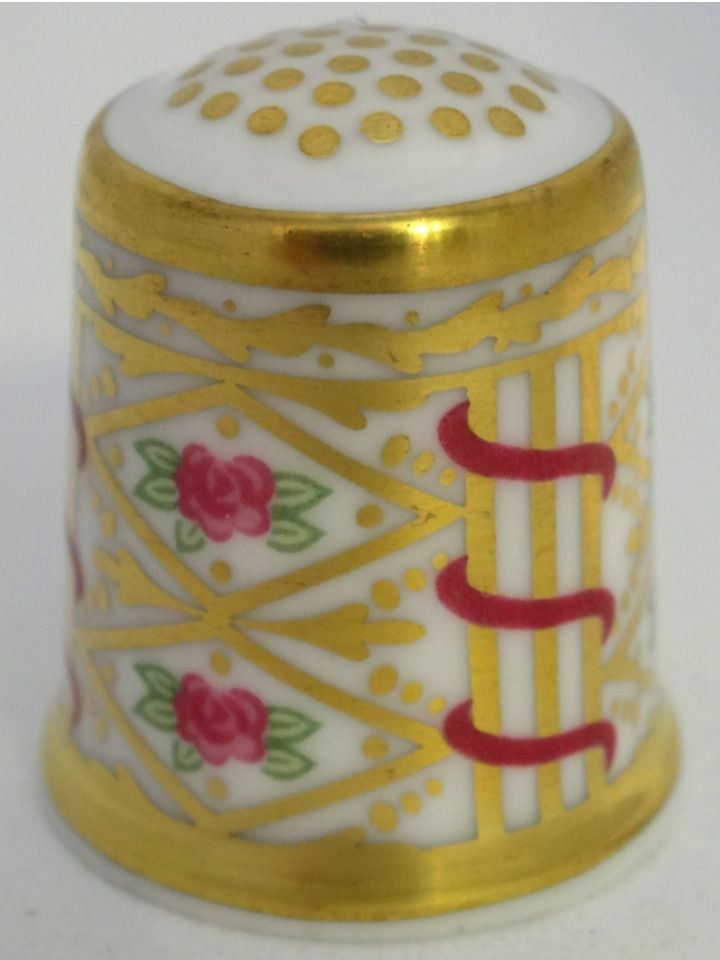 Ribbons and Roses-1810. The Minton Heritage Collection. Thimble-Dedal-Fingerhut.